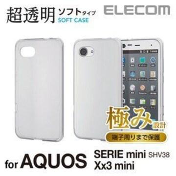 ★ELECOM SHV38/Xx3mini用TPUソフトケース/極み クリア