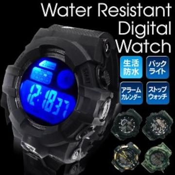 ★腕時計 デジタルウォッチ 防水 カジュアルなスポーツウォッチ