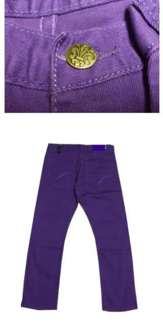 ラス1 Triple Thread トリプルスレッド パープル スキニー W34 < 男性ファッションの