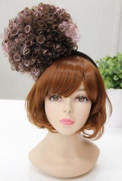 Wigs2you☆W-8204*ポンポンカチューシャ*ヘアアクセ/ピンク
