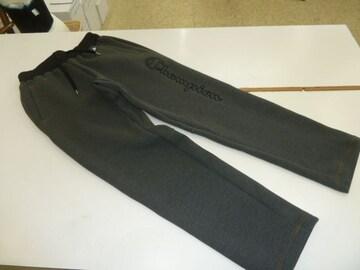 M 黒灰)チャンピオン★ロングパンツC3JS216ジャージ軽量裾ゴム保温伸縮