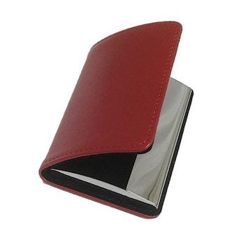 名刺入れ 牛革 カードケース ワインレッド