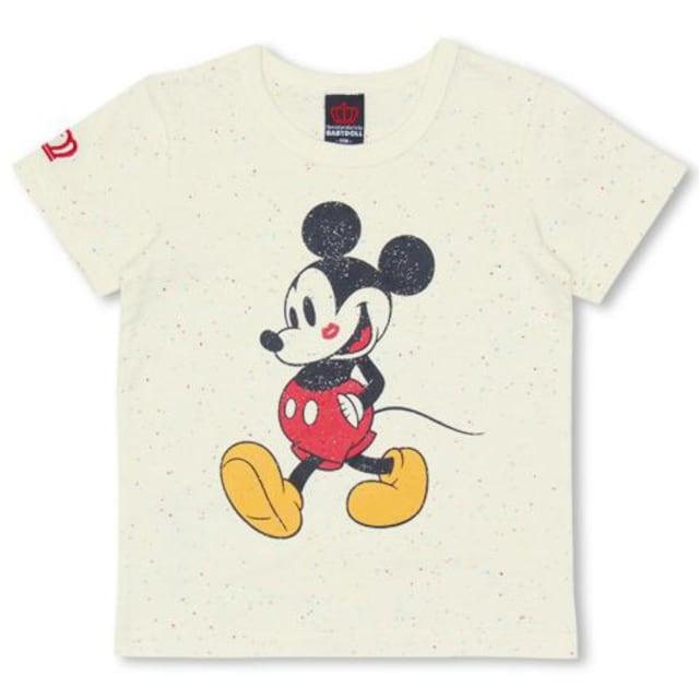 新品BABYDOLL☆140 ミッキー Tシャツ オフホワイト ディズニー ベビードール  < ブランドの