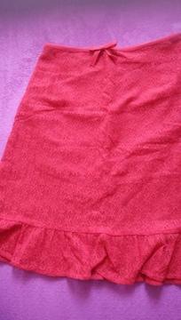 レア 美品 CLATHAS  クレイサス レース スカート 赤