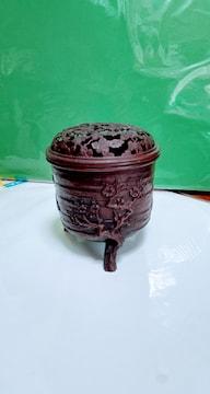 高岡銅器 精山造 松竹梅三足 香炉