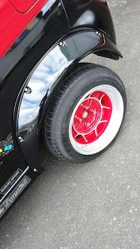 13インチ2本、タイヤ付き、メーカー不明 8J ミラ シャコタン