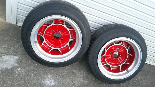 13インチ2本、タイヤ付き、メーカー不明 8J ミラ シャコタン < 自動車/バイク