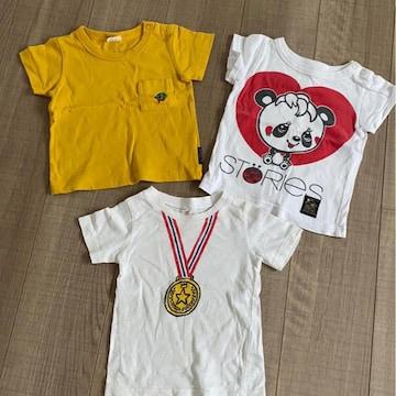 男女OK半袖Tシャツ80まとめ売り3枚グラグラBREEZE西松屋