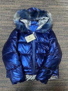 ファー付き光沢ダウンジャケット (韓国ファッション)