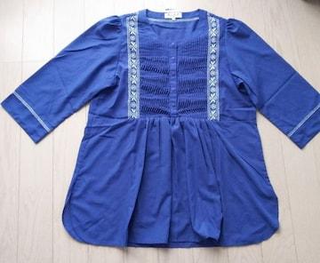 MALIANI★15号★LL★刺繍ブラウス★胸元プリーツ★大きいサイズ★新品