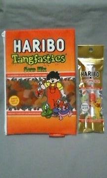 ☆HARIBO☆グミ柄ポーチ(オレンジ)&ベアグミ歯ブラシ☆2点セット☆ハリボー☆�B☆