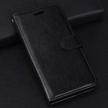 iPhone7 8 手帳型ケース レザー 液晶フィルム フォトフレーム 黒