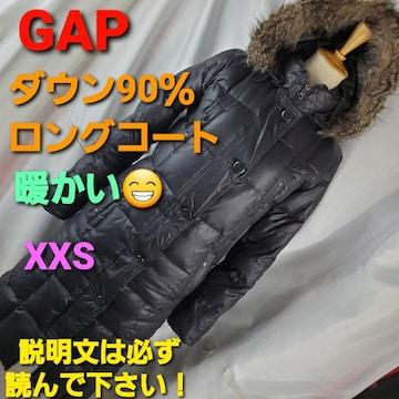 込み★503★GAP★ダウン90%★ダウンロングコート★XXS★訳アリ
