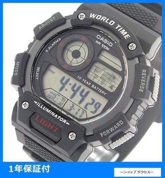 新品 即買い■カシオ メンズ 腕時計 AE-1400WH-1A 液晶ブラック