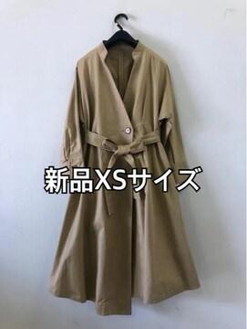 新品☆XSサイズおしゃれスタンドカラーのトレンチコート☆dd185