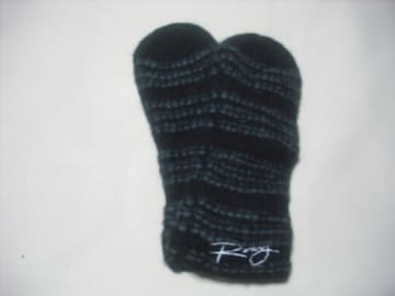 wb803 ROXY ロキシー ニット手袋 ボーダー