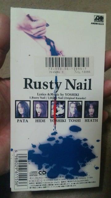 X JAPAN  Rusty Nail < タレントグッズの