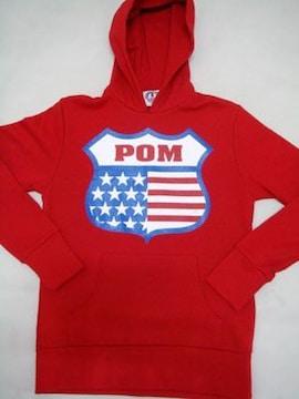 POM(ピースオンマーズ)USA 27パーカー/レッドM アメカジ