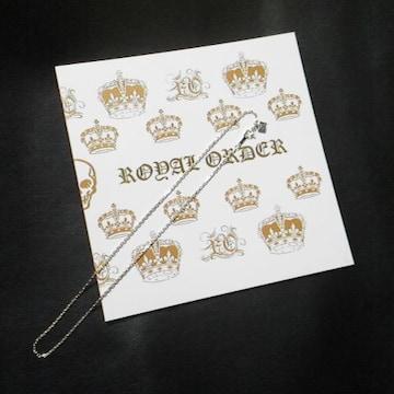 レア★ROYAL ORDER/ロイヤルオーダー★ネックレスチェーン(新品)&SHOP袋(ゴールド)