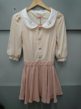 Ank Rouge☆切り替え5分袖ワンピ