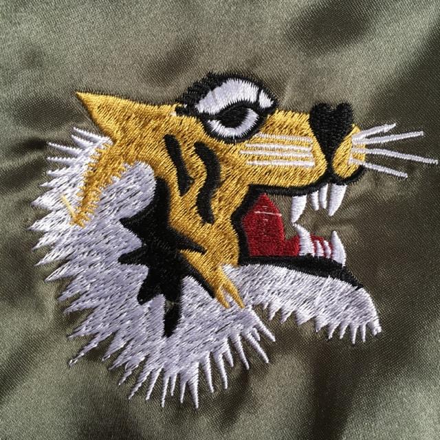 JAPANロゴ&タイガー刺繍スカジャン < 女性ファッションの