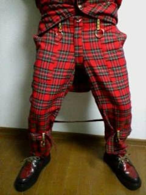 即決トライブワークスチェックボンテージスーツ!パンクロック666HIRO < 男性ファッションの