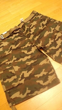 LA直輸入PROCLUB迷彩ウッドランドカモ W52〜W50 ベルト付き