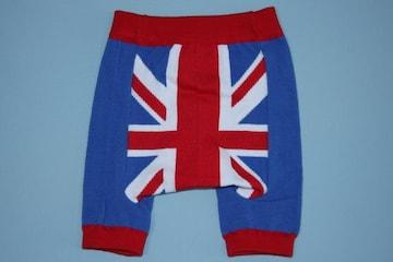 ユニオンジャック柄子供用キッズショートスパッツ/レギンス80-100英国旗イギリス