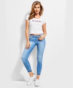 タグ付き新品ゲスGUESSオリジナルショートTシャツトップス女性白