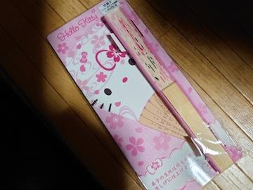 新品★キティちゃんの竹扇子