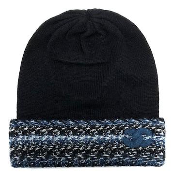 新品同様正規シャネル帽子ニット帽ココマークブラックブルー