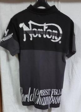 Norton★ポロシャツ▲ノートン●刺繍★L