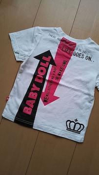 中古矢印Tシャツ90100白ベビドBABYDOLLベビードール