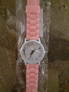 新品未使用・腕時計・鉛筆針・ピンク