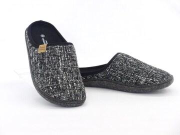 Pansy パンジー ルームシューズ 9218 Sサイズ(22.5cm) ブラック