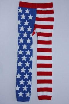 USフラッグ柄キッズ子供用スパッツ/レギンス90-100星条旗/アメリカ国旗