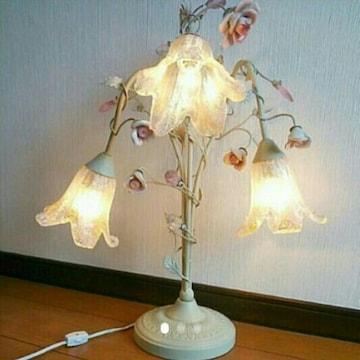 白 シャンデリア ランプ ライト アンティーク ロココ ホワイト