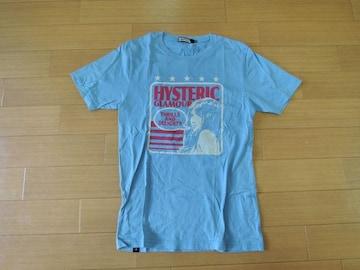 HYSTERIC GLAMOURヒステリックグラマーTシャツS水色系ガール
