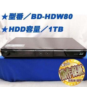 <<大容量1TB搭載BDレコーダー>>BD-HDW80