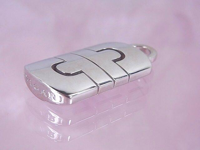 【希少】ブルガリ K18WG パレンテシ ペンダントトップ 新品仕上げ済★dot < ブランドの