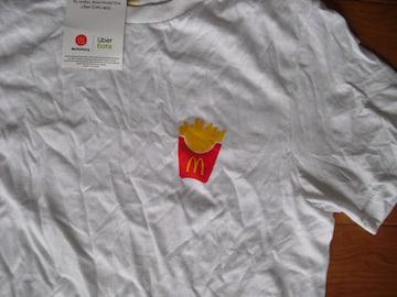マクドナルド ウーバーイーツ Tシャツ USA−S 新品