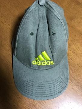 送料込!中古*adidas アディダス ロゴ入りキャップ 帽子