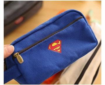 スーパーマン ペンケース 大容量 ペンポーチ //a20