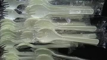 先割れスプーン、30本新品未開封品1本づつ袋入り
