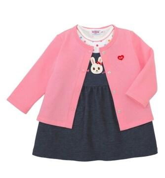 美品★MIKIHOUSE★うさこ★綿100%★ミキハウス★ワンピース★ジャンパースカート