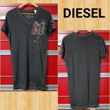 購入12000円 DIESEL ディーゼル ウォッシュ加工 Tシャツ S