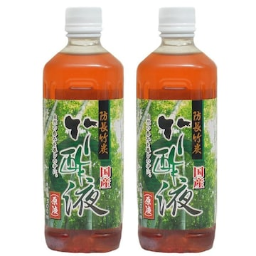 国産 竹酢液 500ml 防長竹炭 (原液) 2本セット