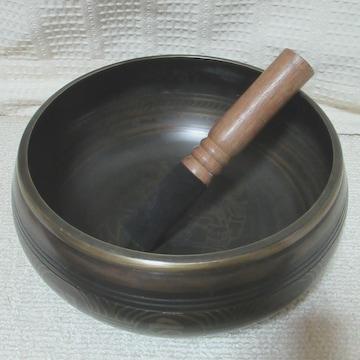 口径20.5センチ シンギングボウル(ガネーシャ)1990g ヒーリング