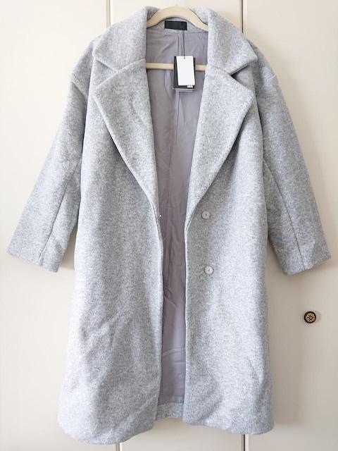 000091 新品未使用 109購入 グレーのロングコート < 女性ファッションの