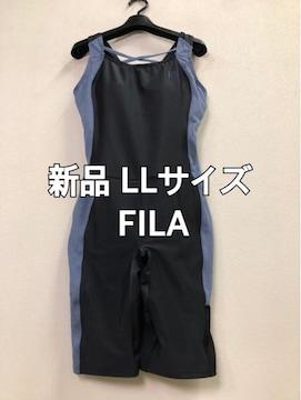 新品☆LLサイズFILAオールインワン水着スイミング☆j425